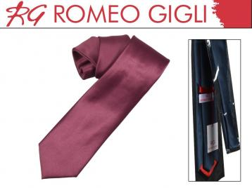 Cravatta raso larga bordo' romeo gigli