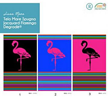 Telo mare flamingo degrade' 90x170 cm