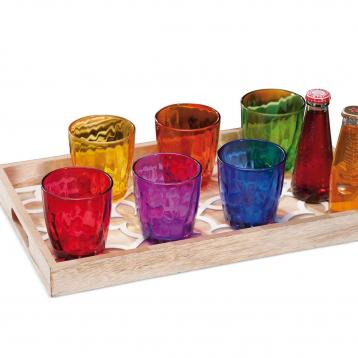 Set 6 bicchieri colorati brizia 22 cl