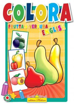 Libro da colorare frutta & verdura english