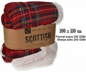 Coperta scottish 2p 200*230