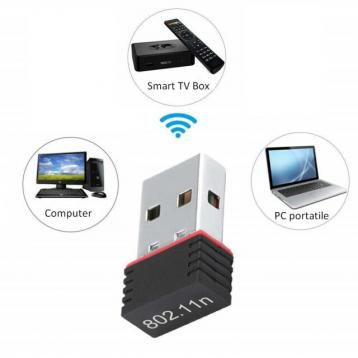Adattatore wireless usb nano wi-fi 2.4 ghz 150 mbps
