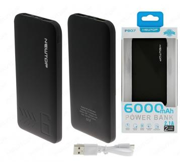Newtop pb07 power bank 6000mah nero