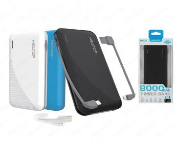 Newtop pb08 power bank 8000mah nero