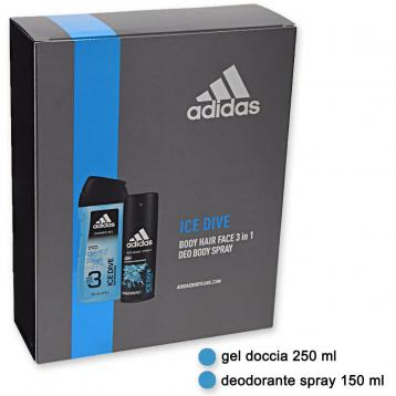 Adidas coffret deo 150 ml + shower gel 250 ml ice dive