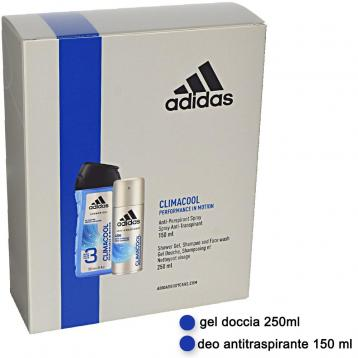 Adidas coffret deo 150 ml + shower gel 250 ml climacool