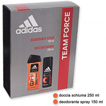 Adidas coffret deo 150 ml + shower gel 250 ml team force