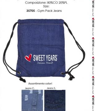 Borsa gym pack jeans sweet years