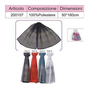 Sciarpa 100% poliestere coveri collection
