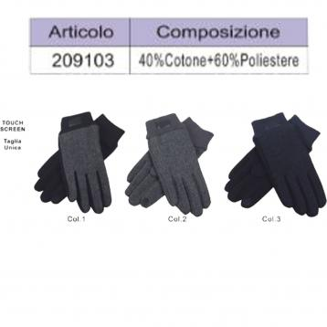 Guanti coveri collection 40% cotone 60% poliestere