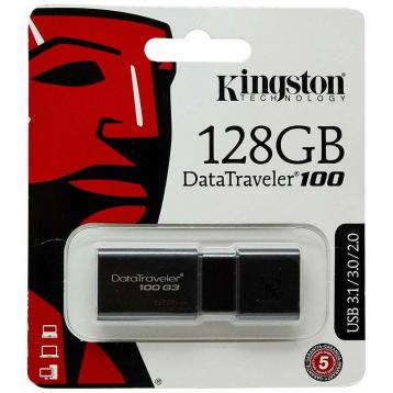 Kingston usb flash dt-100 g3 usb 3.0 128gb