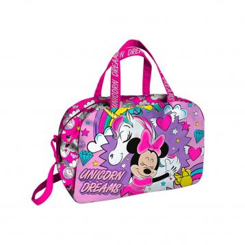 Believe in unicorno borsone sport minnie