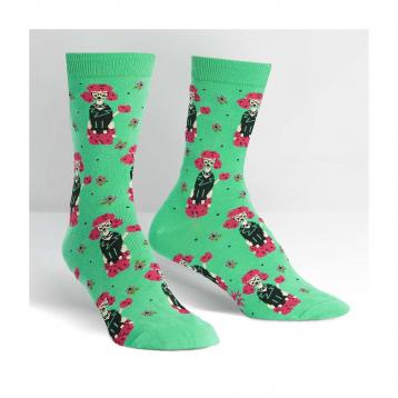 Calze regalo donna al polpaccio barboncino punk - sock it to me