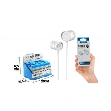 Newtop cf25 small blister auricolari universale jack 3.5mm bianchi