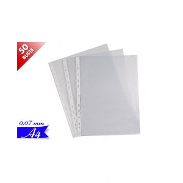 Buste forate 0,07mm formato a4 blister 50pz