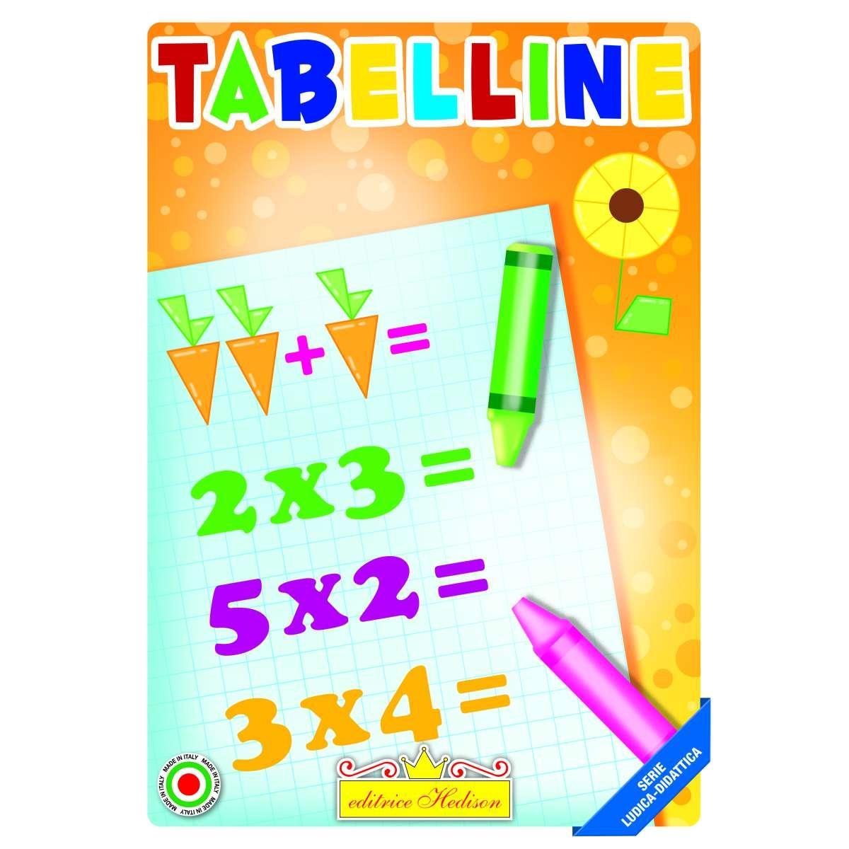 Editrice Hedison Libro Per Bambini Da Colorare Tabelline Divertenti Lib5854 9788196405854