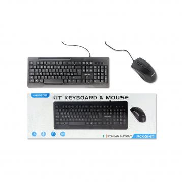 Newtop pck01 tastiera + mouse kit pc layout italiano